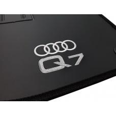 Tapete de Borracha Audi Q7 2005 a 2015 5 Lugares + Porta Malas