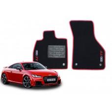 Jogo de Tapetes Audi TT Preto/vermelho Luxo