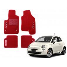 Jogo de Tapetes Fiat 500 Vermelho Luxo