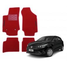 Jogo de Tapetes Fiat Argo Vermelho Luxo