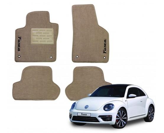 Tapete Volkswagen Novo Fusca Bege Luxo